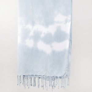 Hand Dyed Gray Scarf in Mountain Mist Tie-Dye